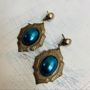 vintage art deco inspired pierced earrings